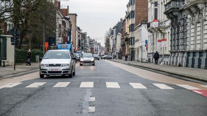 De Doorniksewijk, hier zien we het stuk vanaf de Doorniksetunnel, wordt na 2024 heraangelegd