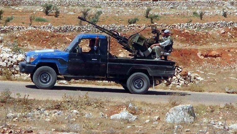 Syrische strijders van het Vrije Leger. Beeld epa