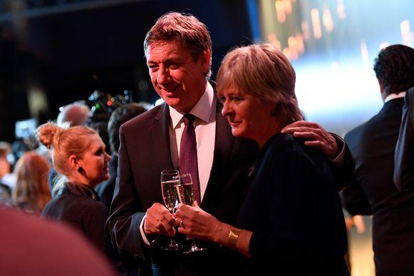 Vlaams Minister-president Jan Jambon en partner Ann Gilops.