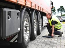 Veel vrachtwagens niet in orde bij controle op A73