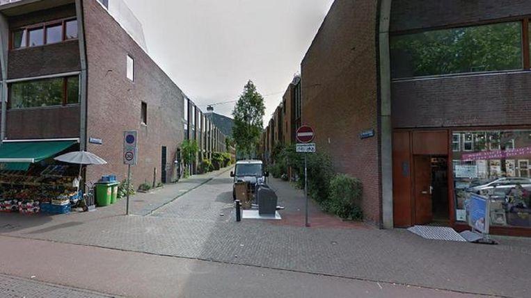 Familieleden van het slachtoffer vonden diens lichaam in de woning in de C.J.K Van Aalststraat in Zeeburg. Beeld Google Streetview