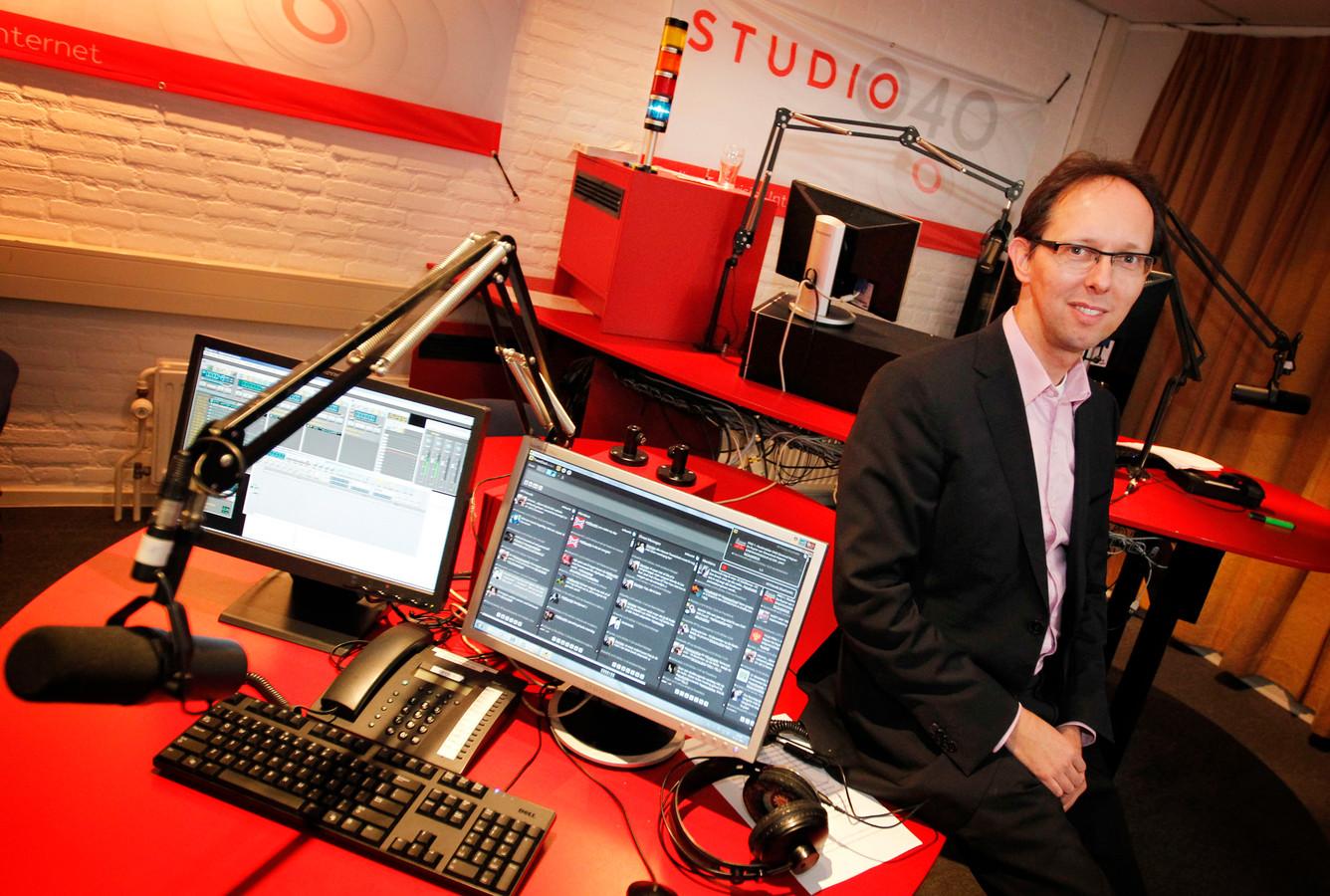 Directeur en hoofdredacteur van Studio040 Michiel Bosgra die met zijn omroep vanaf november naar alle waarschijnlijkheid ook tv- en radio-uitzendingen over Waalre gaat maken.