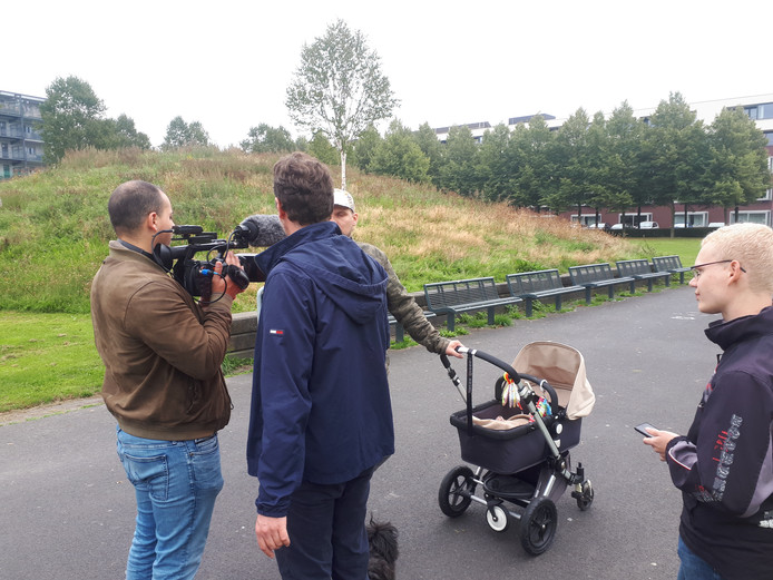 Media-aandacht in Westerpark.