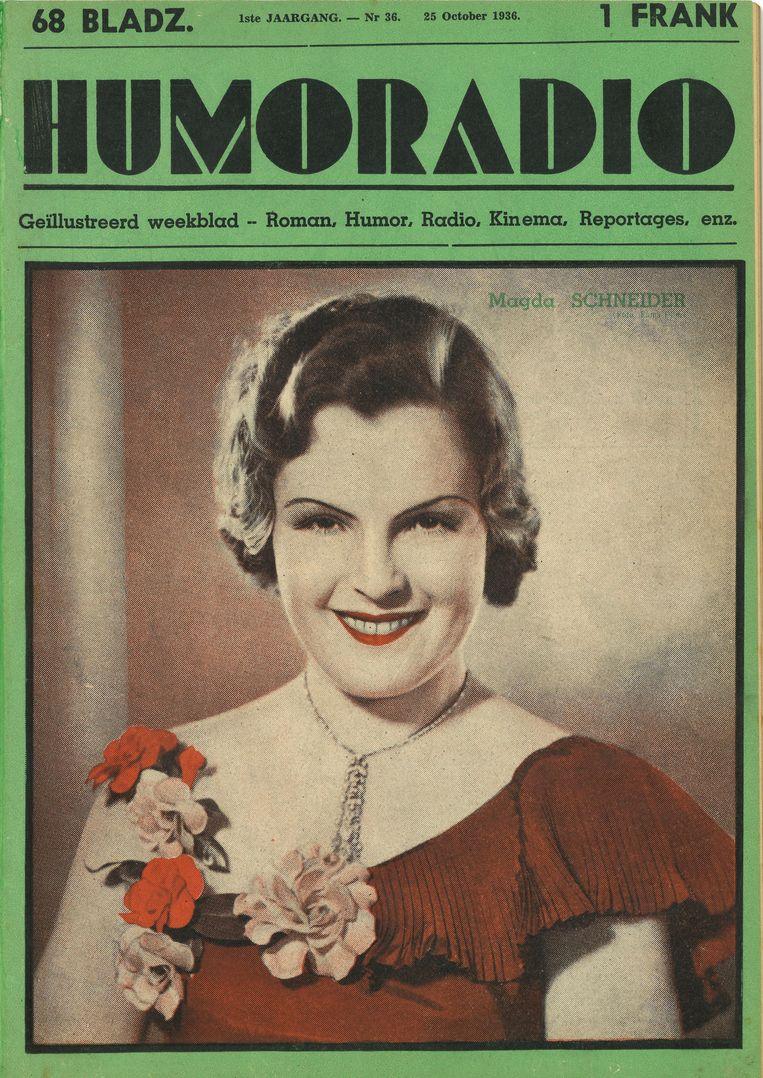 Een van de eerste covers van Humo, toen nog 'Humoradio', uit 1936.
