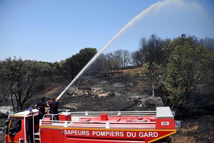 Door de hitte van vorige maand is de natuur in het zuiden van Frankrijk kurkdroog, met kans op bosbranden. (Archiefbeeld)