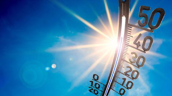 De temperatuur loopt weer op deze dagen.