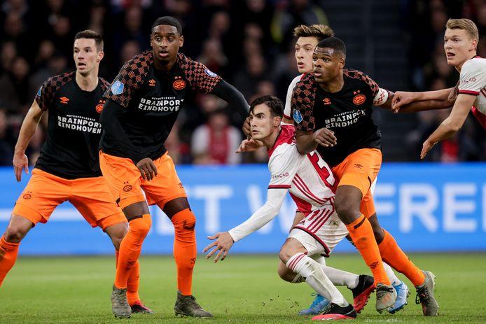 PSV en Ajax ontmoetten elkaar voor het laatst in januari 2020.