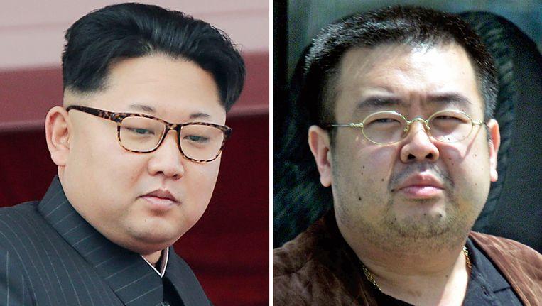 De Noord-Koreaanse leider Kim Jong-un (links) en zijn halfbroer Kim Jong-nam. Beeld null