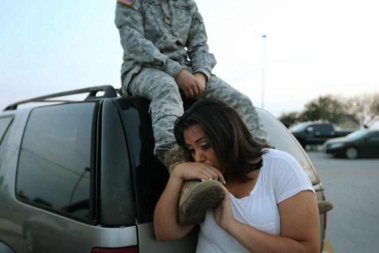 Op de Amerikaanse legerbasis Fort Hood in Texas heeft een schutter woensdagavond drie mensen doodgeschoten. Beeld reuters
