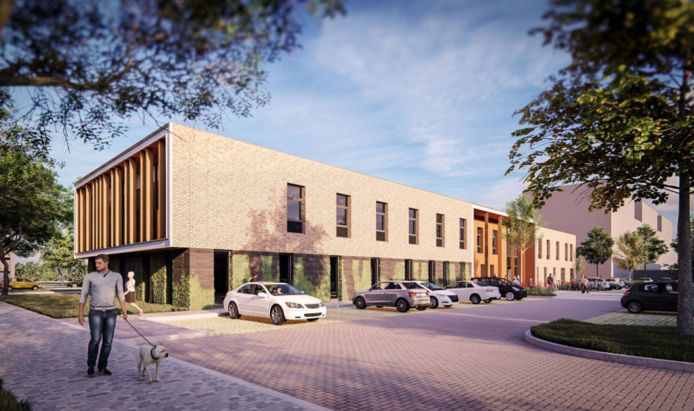 Impressie van de nieuwbouw van gezondheidscentrum Veldhuizen.