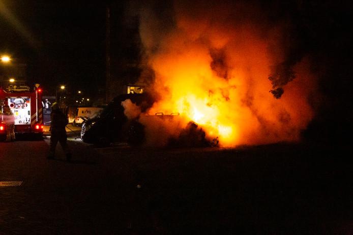 De schade is groot door het vuur.