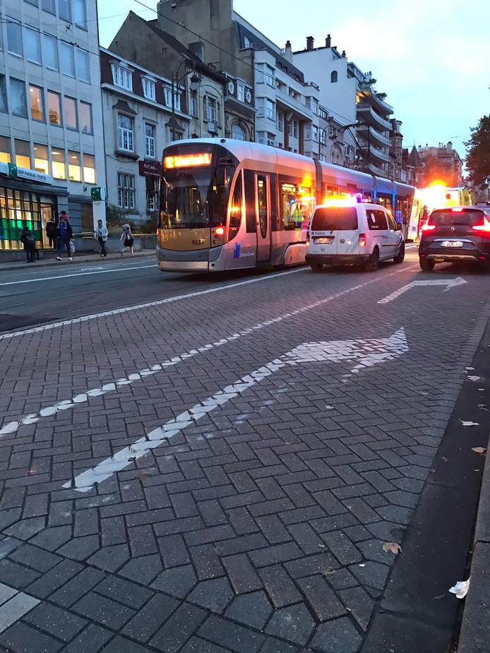 La circulation des trams a été interrompue de 16h45 à 17h30 entre les arrêts Vanderkindere et Globe.