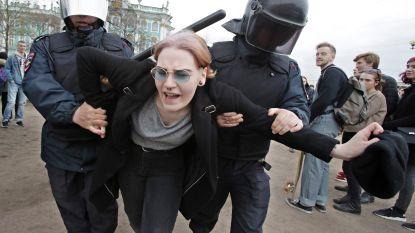 1.600 mensen opgepakt bij protesten tegen 'tsaar' Poetin
