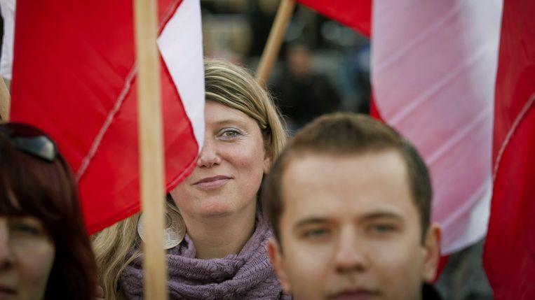 Archiefbeeld: Polen demonstreren op het Plein in Den Haag tegen het Polenmeldpunt van Geert Wilders Beeld anp