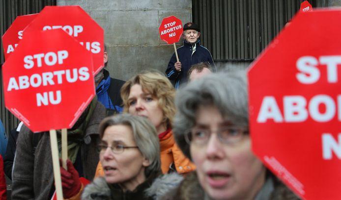 Protesten tegen abortus.