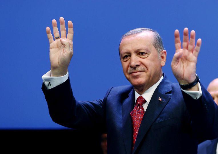 De Turkse president Tayyip Recep Erdogan. Beeld reuters