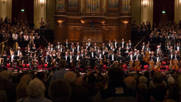 Jansons (m) met het Concertgebouworkest. Beeld Cigdem Yuksel