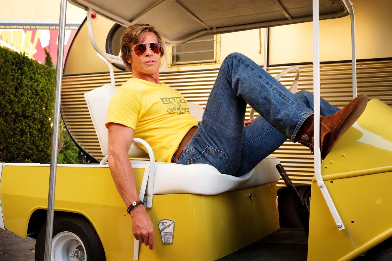 "Brad Pitt dans ""Once Upon a Time... in Hollywood""."