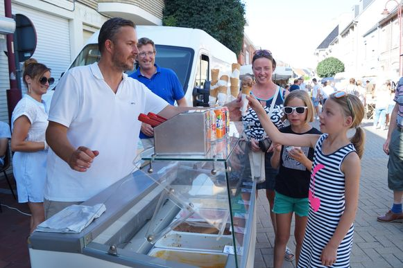 De ijsjes gingen bij Bakkerij Hoornaert vlot over de toonbank.