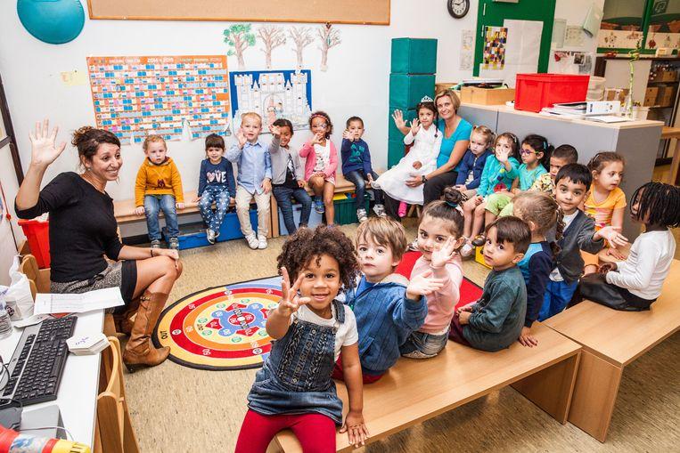 Deze kinderen zijn het intussen gewoon op school, maar heel wat peutertjes mogen er volgend jaar heen: de eerste kleuterklas