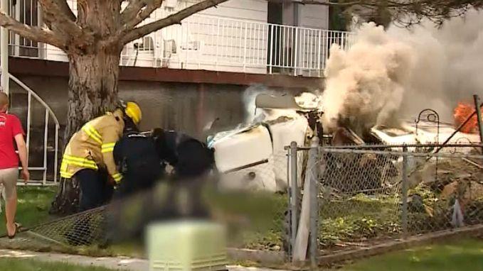 Vliegtuig crasht in midden van woonwijk: piloot, vrouw en 9 maanden oude baby overleden