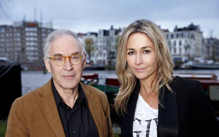 Hugo Heymans, emeritus-hoogleraar kindergeneeskunde en Wendy van Dijk. Beeld  William Rutten