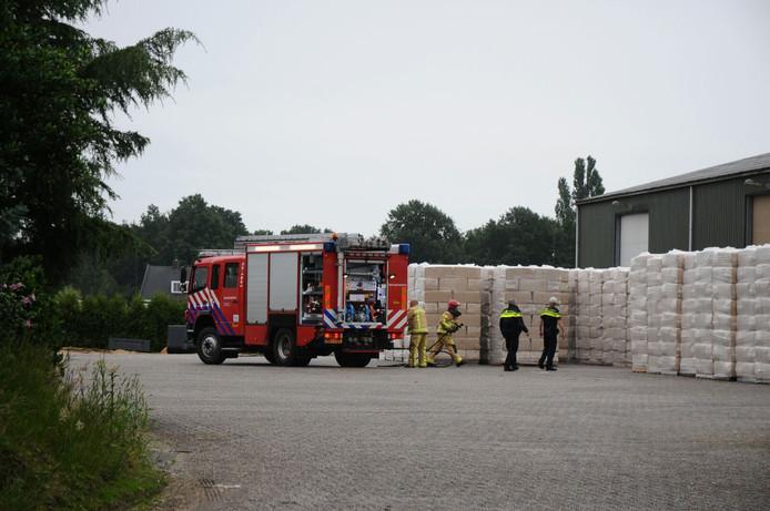 Brand bij fouragehandel in Soerendonk