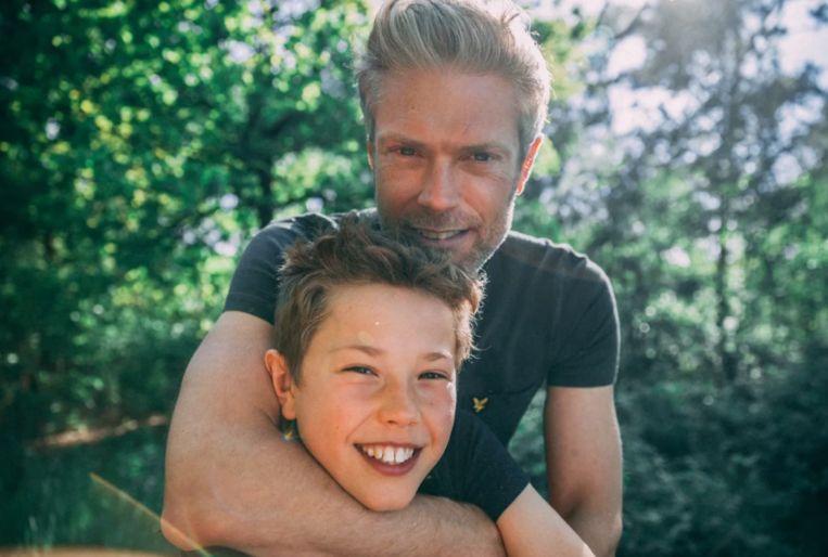 Maarten en zijn zoon.