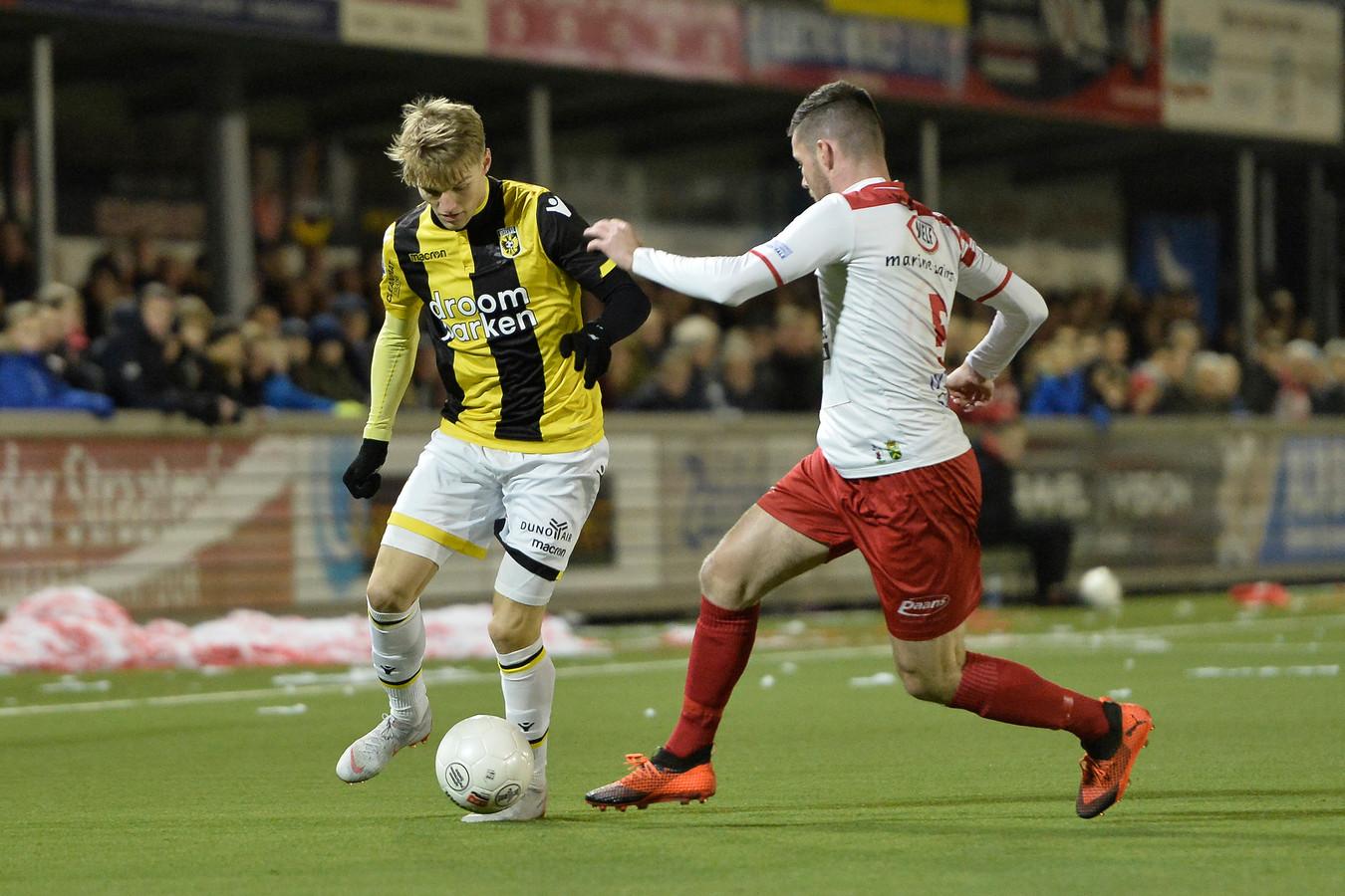 Martin Ødegaard in actie in Werkendam.