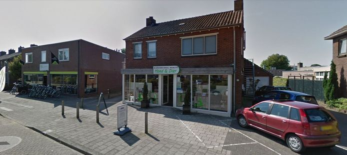 De nieuwe locatie van kringloop De Snuffelaar. Voorheen zat hier de dierenwinkel.