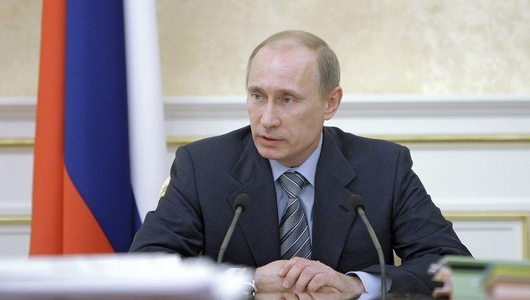 De Russische premier Vladimir Poetin. Beeld reuters