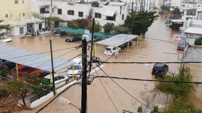 Noodtoestand op Kreta door hevige regenval en overstromingen