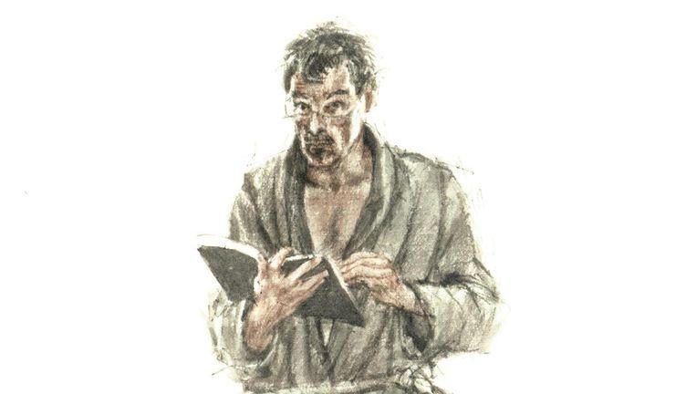Peter Vos, zelfportret uit 1982. Beeld Uit: Getekende brieven