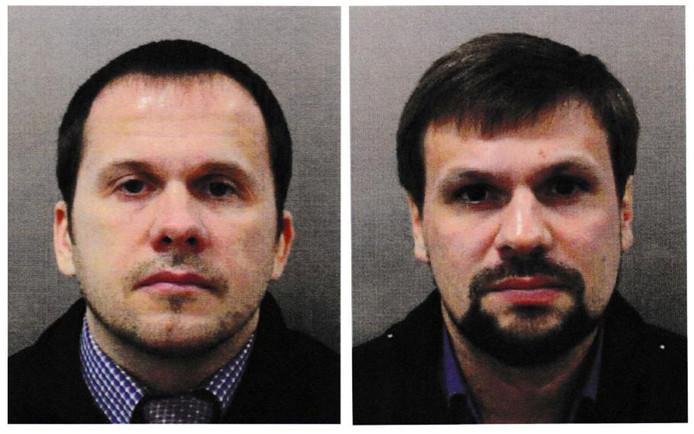 Alexander Petrov and Ruslan Bosjirov, verdacht van de gifgasaanslag op Sergei en Joelia Skripal.
