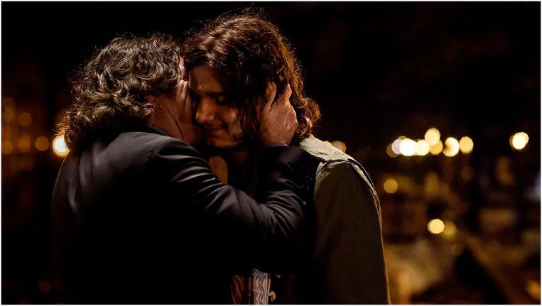Scene uit de film Tonio, met Pierre Bokma en Chris Peters Beeld -