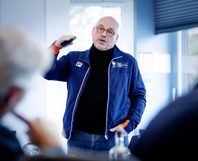 Technisch directeur NOC*NSF Maurits Hendriks tijdens een persbijeenkomst in Sportcentrum Papendal. Tijdens de bijeenkomst wordt vooruitgeblikt op de rol van TeamNL tijdens de Olympische en Paralympische Spelen van Tokio 2020.