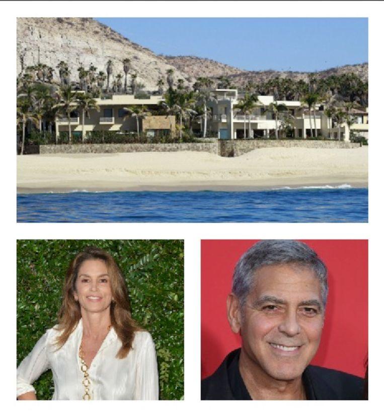 Cindy Crawford en George Clooney kochten beiden een huis op Cabo en zijn naast goede vrienden dus ook buren.