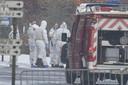 Onderzoek bij het drugslab in Eksel, na de vondst van de drie lichamen.