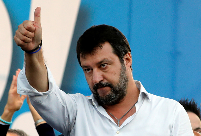Matteo Salvini, de leider van de rechtse Italiaanse partij Lega.