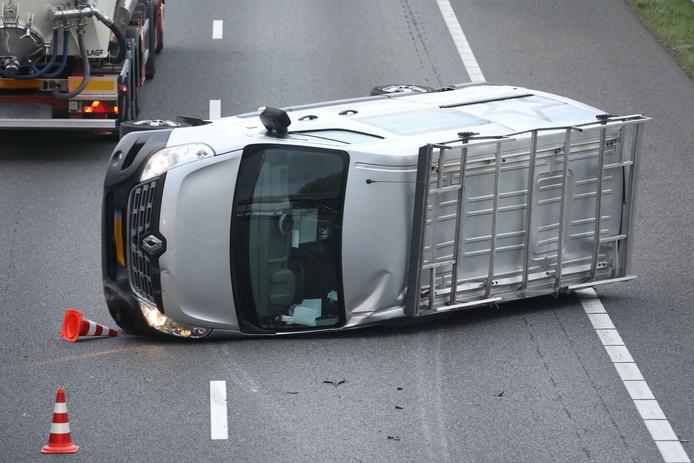 Ongeluk A50 bij Ravenstijn