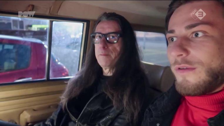 Tegenpolen Herman Brusselmans en vlogger DieTim in het Powned-programma Dit is niet mijn wereld vriend. Beeld RV