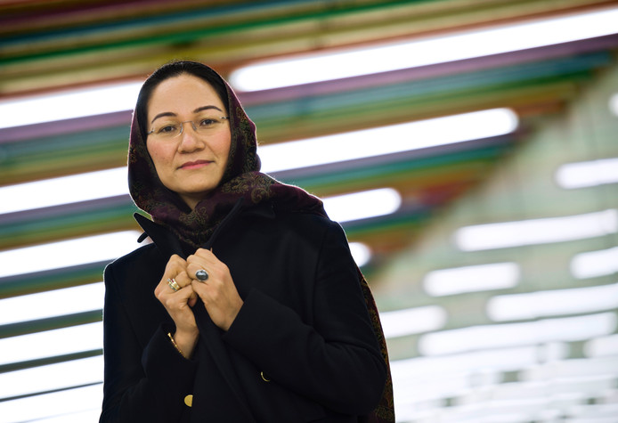 De directeur van Femmes for Freedom, Shirin Musa.