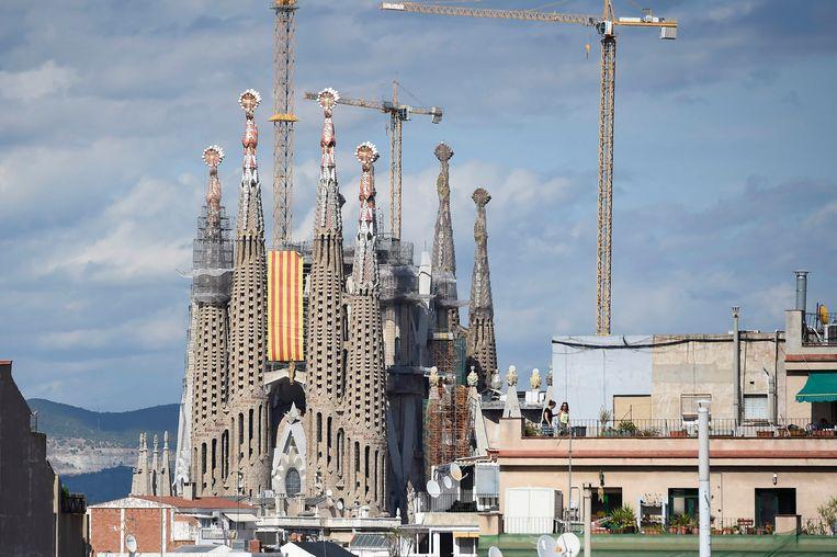 De Sagrada Familia in aanbouw Beeld AFP