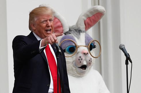 Foto van Paaseieren rapen met Donald Trump