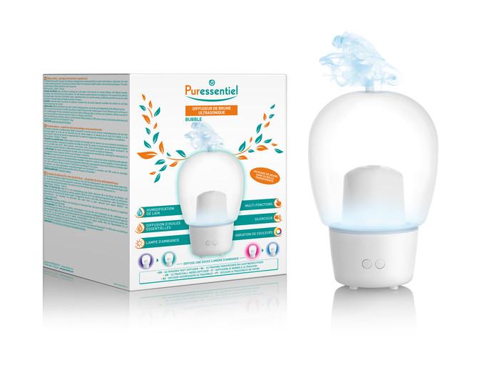 Diffuseur Bubble - 65 euros. Disponible en pharmacies et parapharmacies.
