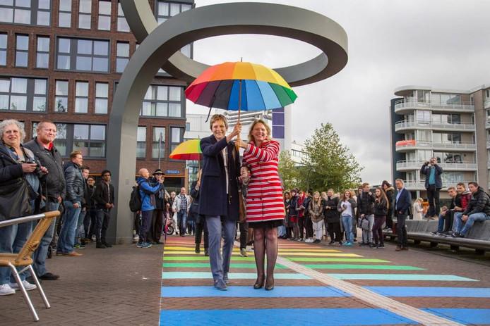 De opening van het regenboogpad.