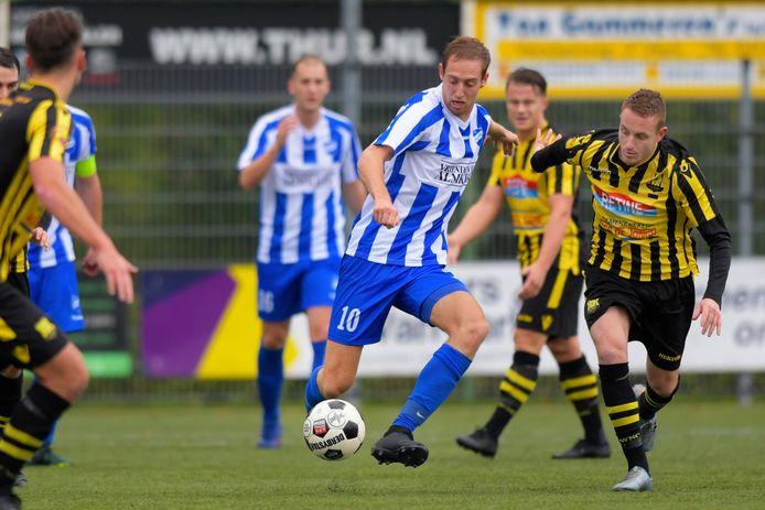 WNC, hier in actie tegen Almkerk, speelt zaterdag thuis tegen Oranje Wit