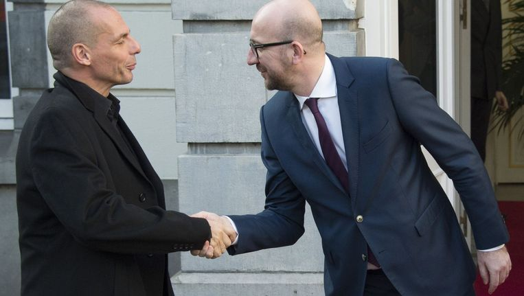 Yanis Varoufakis en Charles Michel.