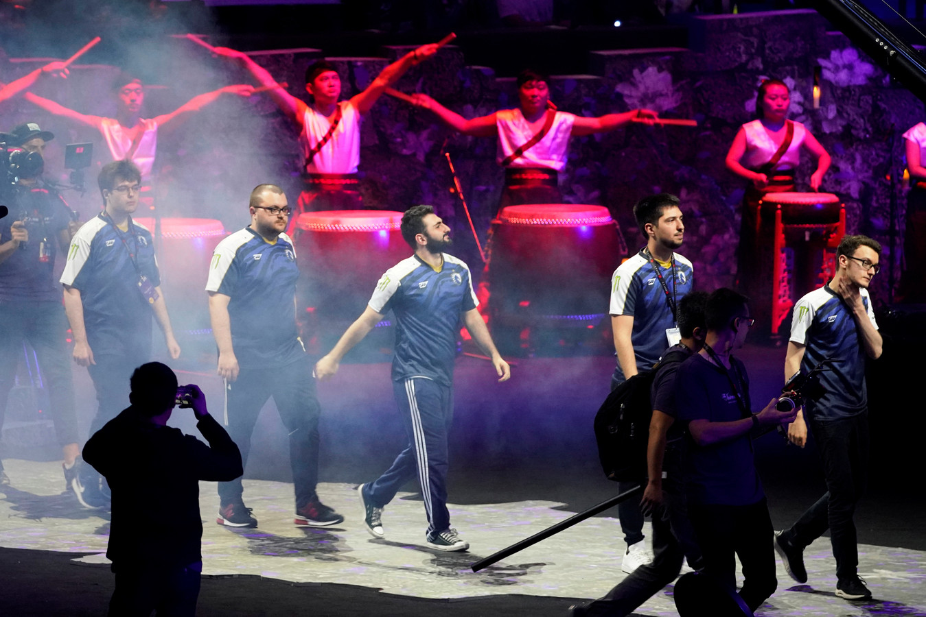 Team Liquid voorafgaand aan de finale in Sjanghai.