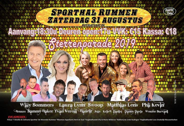 De Sterrenparade vindt zaterdag plaats.